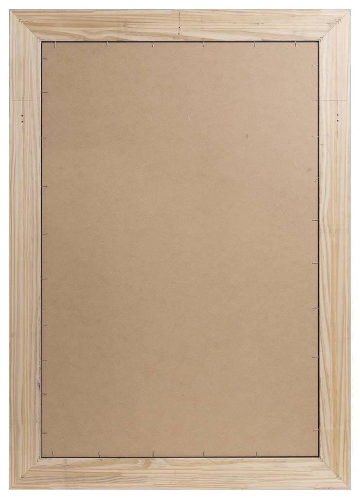 Sardinia Grande - Spiegel mit breitem Rahmen aus dunklem Holz