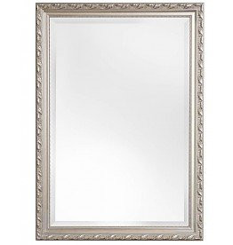 Spiegel mit silbernem Barock-Rahmen