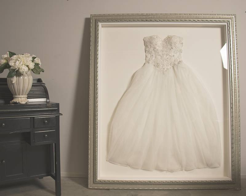 Lassen Sie Ihr Brautkleid einrahmen - Barock Style