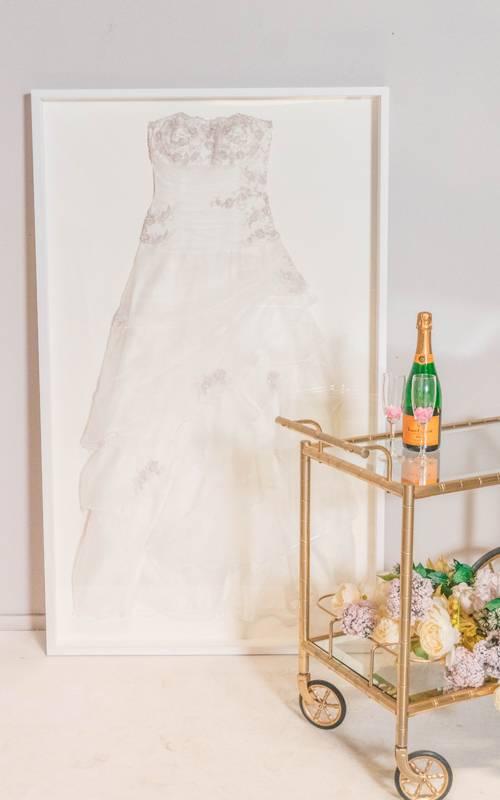 Hochzeitskleid im Rahmen - Basic - White Edition - | KunstSpiegel.de