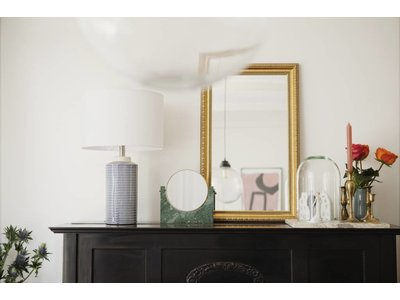 Spiegel mit goldenem Barock-Rahmen