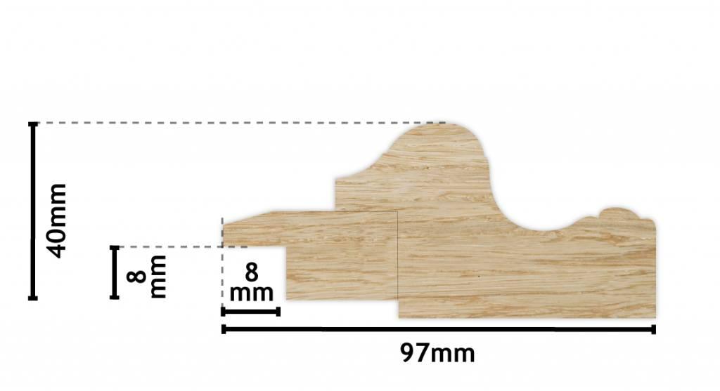Valencia - klassischer weißer Holzrahmen