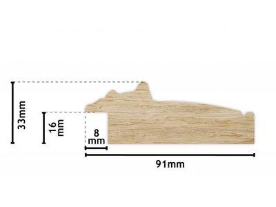Bosa - silberbrauner Holzrahmen