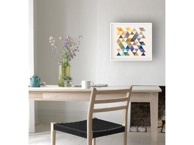 Retro Triangle - Poster mit weißem Rahmen