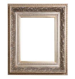 Genova - Silberner Barock-Bilderrahmen aus Holz