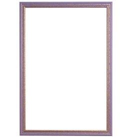 Breda - fröhlicher violetter und goldener Rahmen