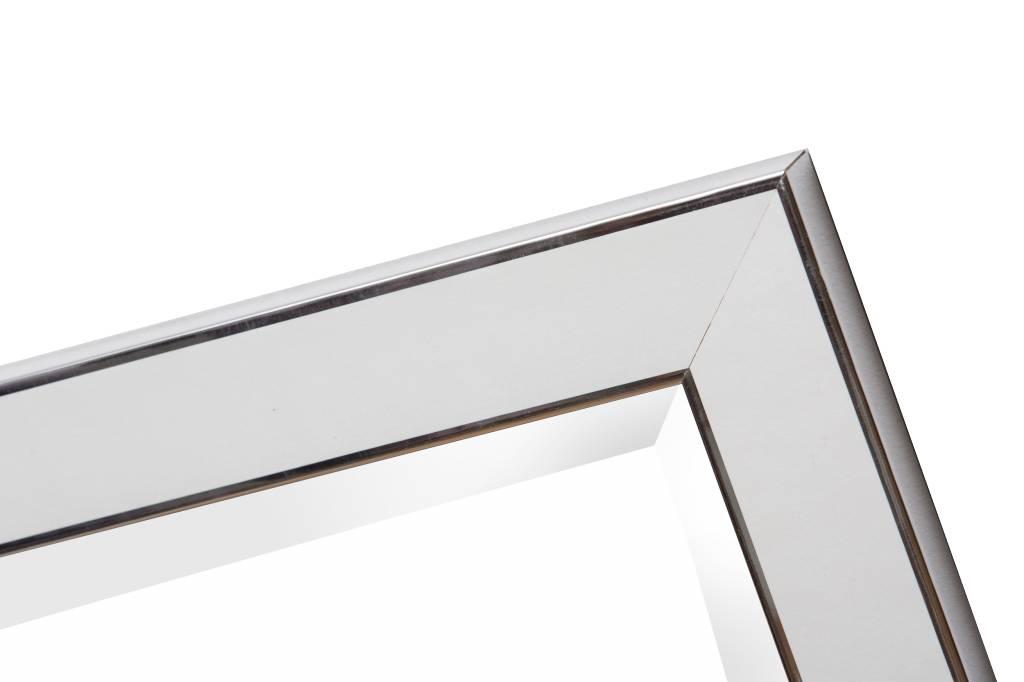 Design-Spiegel mit weißem Rahmen