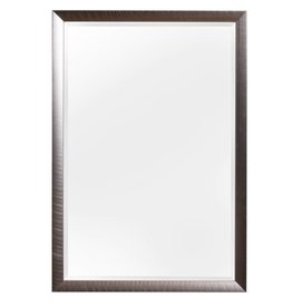 Corte - diagonaler Design-Spiegel in Edelstahlfarbe