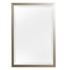 Mariotto - Spiegel mit gebürstetem silbernen Rahmen und schwarzem Seitenrand