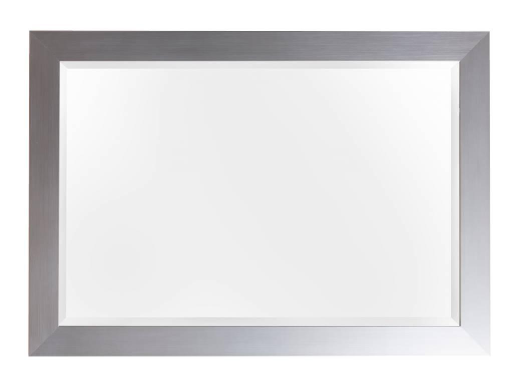 Spiegel mit breitem Rahmen in Silber