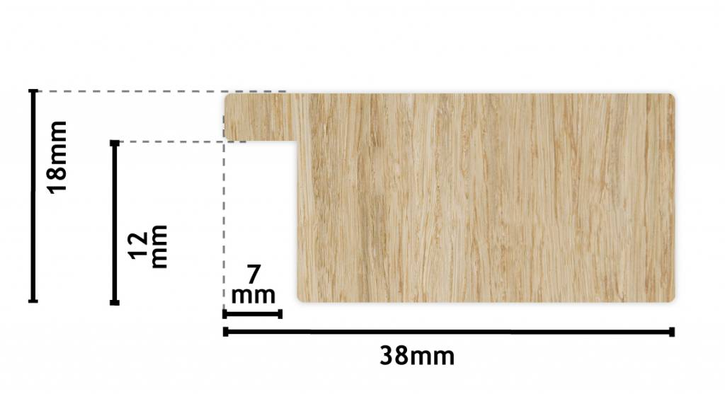 Gebürsteter Rahmen in Edelstahlfarbe