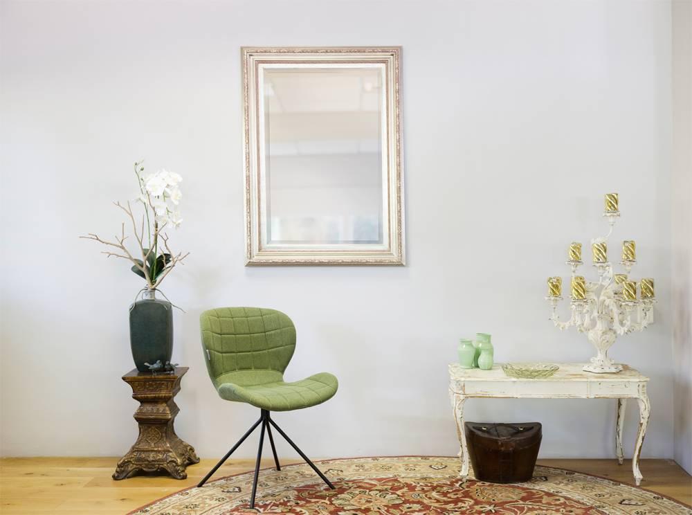 Montpellier - Stimmungsvoller Spiegel mit silbernem Rahmen