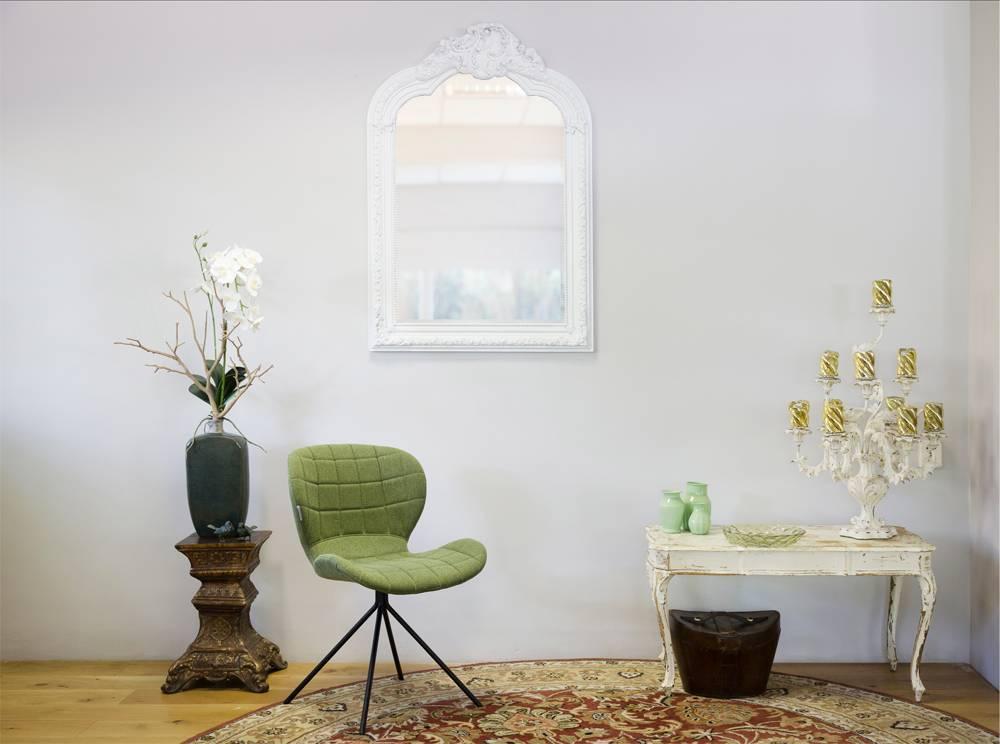 Barok Spiegel Wit : Spiegel mit weißem barock rahmen kunstspiegel.de