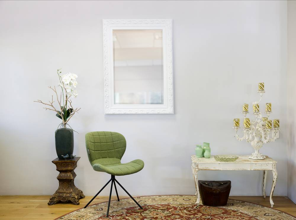 Savona - Spiegel mit barockem weißen Rahmen