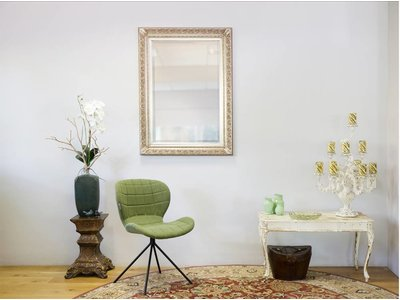 Savona - Spiegel mit silbernem Barock-Rahmen