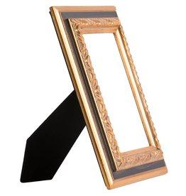 Lazzaro - goldener und schwarzer Holz-Bilderrahmen