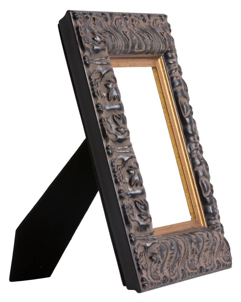 Milazzo - schwarzer Rahmen mit Goldrand