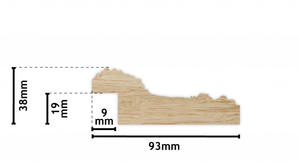 Nyons - Barock silberner Rahmen aus Holz