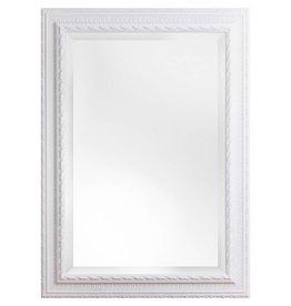 Nyons - Spiegel mit weißem Barock-Rahmen mit Ornament