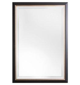 Firenze - moderner schwarzer Spiegel mit silbernem Innenrand
