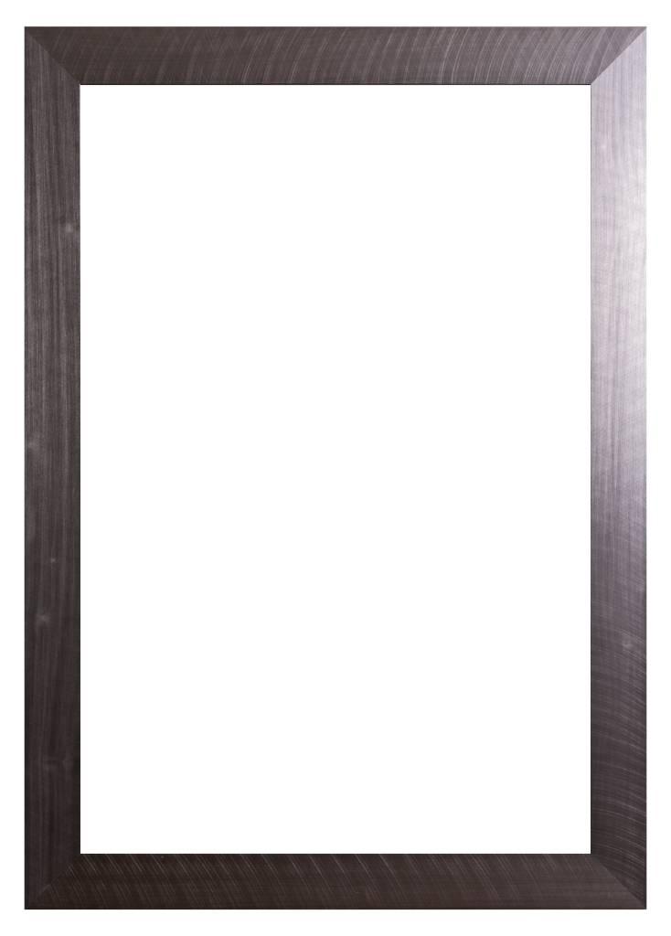 Torino - moderner Rahmen mit Edelstahl-Look