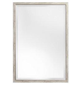 Rimini - Spiegel mit schmalem Rahmen, grau mit Silber