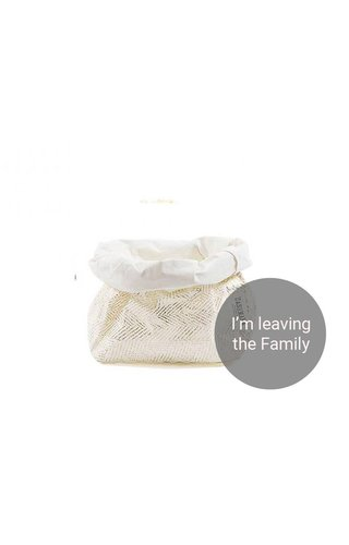 UASHMAMA® Paper Bag Modern Print White / Gold