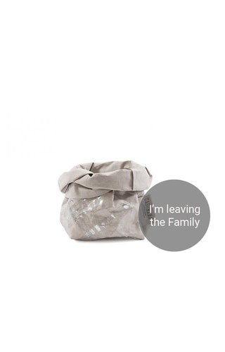 UASHMAMA® Paper Bag Modern Print Grey/Silver