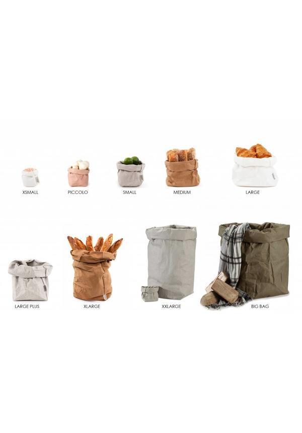 Paper Bag Modern Print Grey/Silver