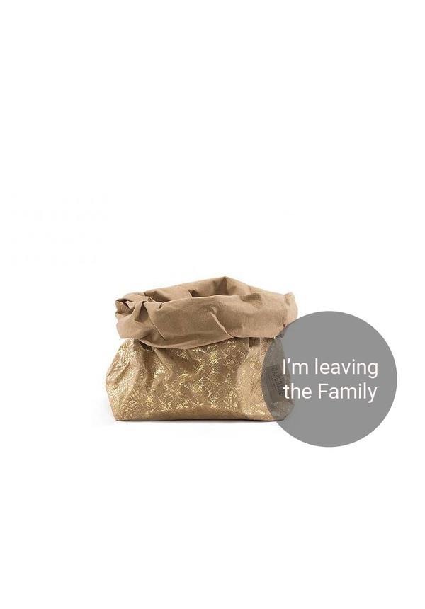 Paper Bag Modern Print Naturel/Gold