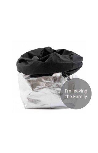 UASHMAMA® Paper Bag Silver / Black