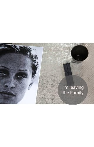UASHMAMA® Placemat Modern Print Grey/Silver