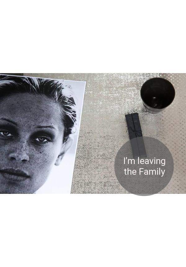 Placemat Grey / Silver Modern Print