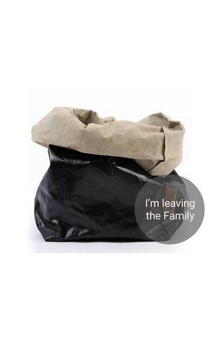 UASHMAMA® Paper Bag Black/Sabbia