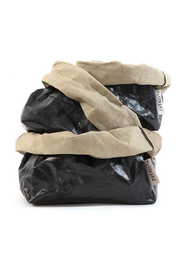 Paper Bag Black / Sabbia