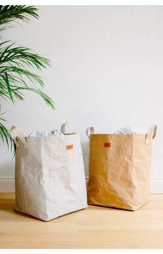 UASHMAMA® Laundry Bag Positano met gestreeept katoen