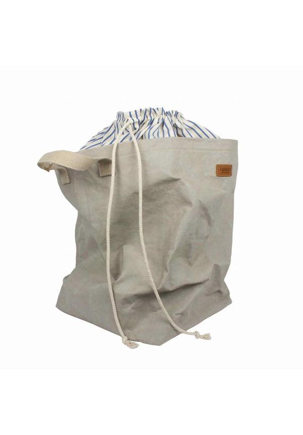 Sac à linge Positano en coton rayé