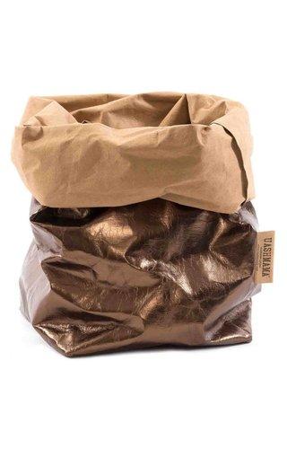 UASHMAMA® Paper Bag Naturel/Bronze