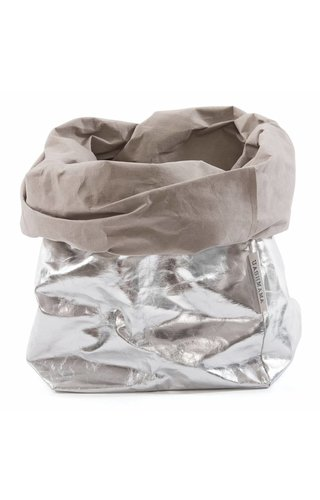 UASHMAMA® Paper Bag Silver / Grey