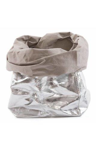 UASHMAMA® Sac en papier Argent / Gris