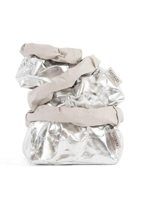 Paper Bag Silver/Grey