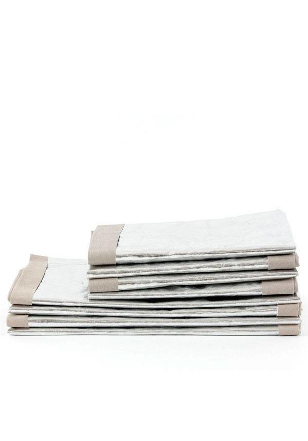 Sac en papier Argent / Gris