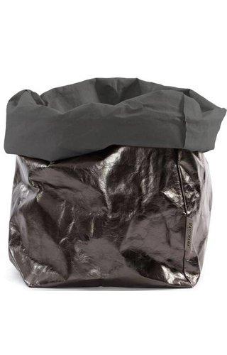 UASHMAMA® Paper Bag D. Gray / Peltro