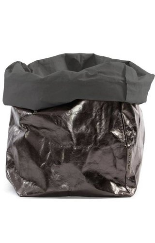 UASHMAMA® Paper Bag D. Gris / Peltro