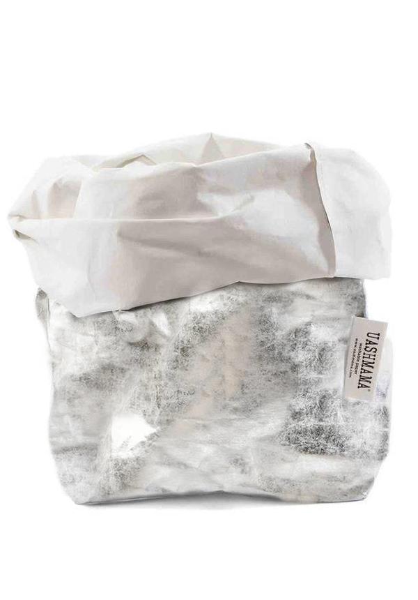 Sac en papier Nuvola Blanc / Argent