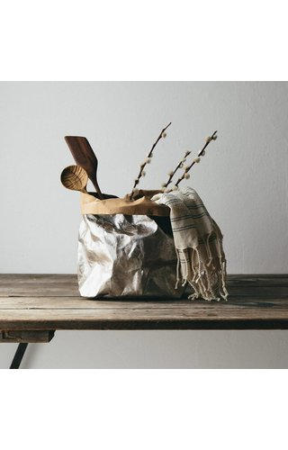 UASHMAMA® Paper Bag Nuvola Natural / Silver