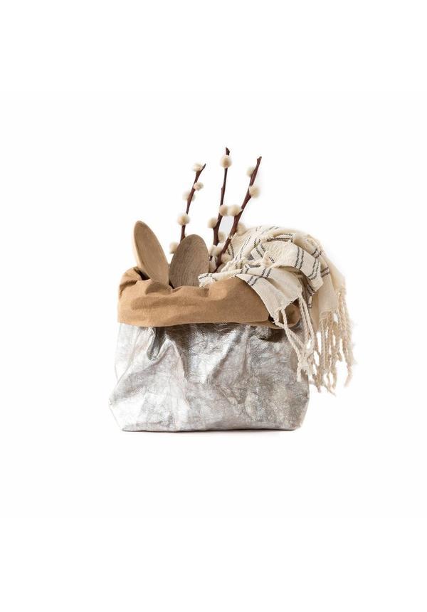 Paper Bag Nuvola Natural / Silver