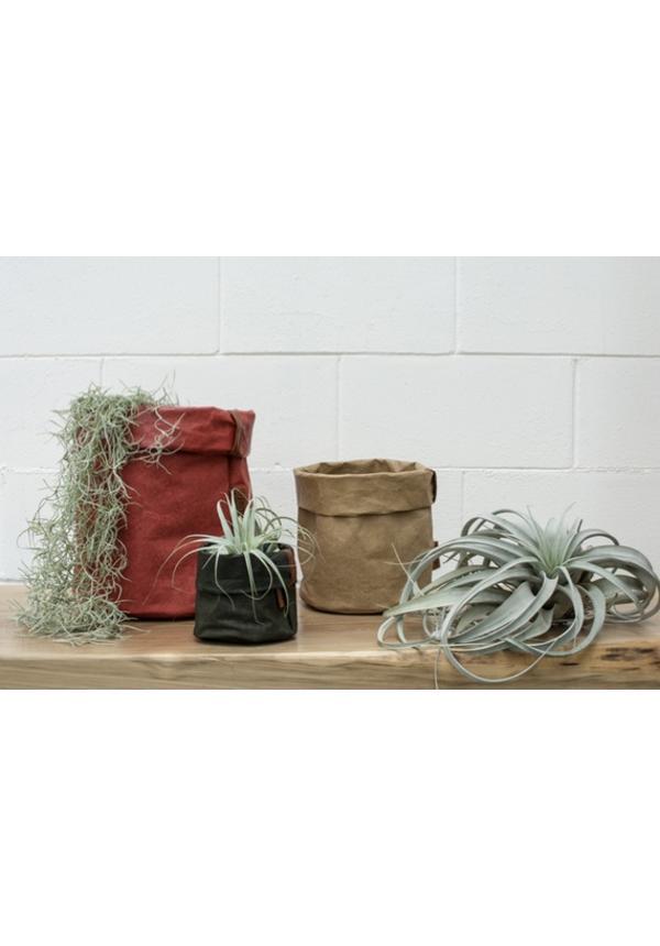 Paper Bag Round Tec D. Green
