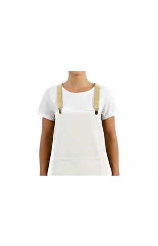 UASHMAMA® Tablier Blanc / Ecru