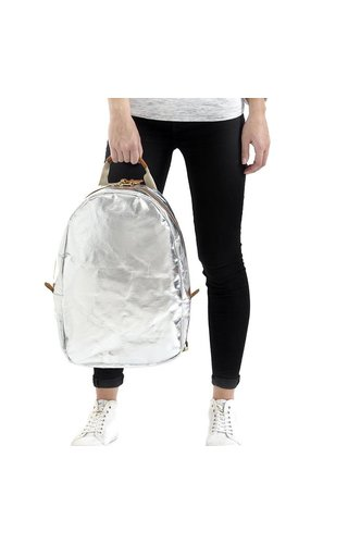 UASHMAMA® Memmo Backpack Silver
